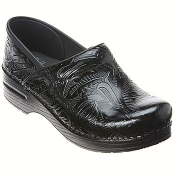 Dansko Professional Tooled Black 906-020202 (Women's)
