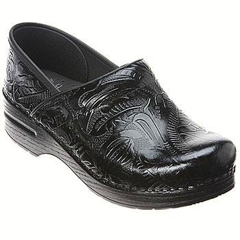 Dansko Professional Tooled Black 906-020202 (Women's)