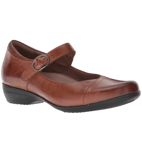 Dansko Fawna Chestnut Burnished 5501-690200 (Women's)