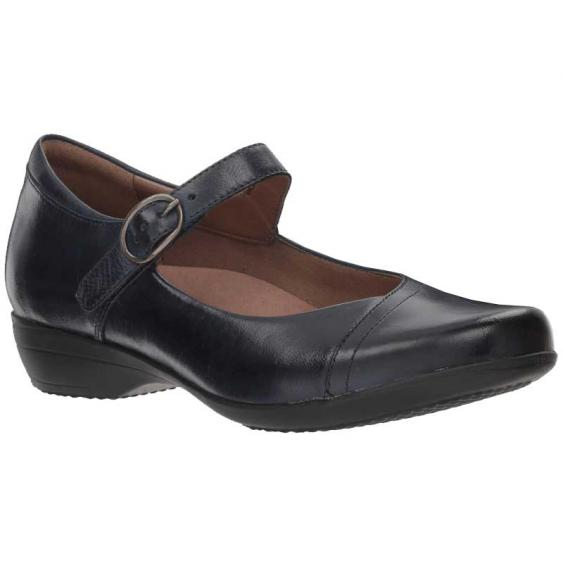 Dansko Fawna Navy Burnished 5501-550200 (Women's)