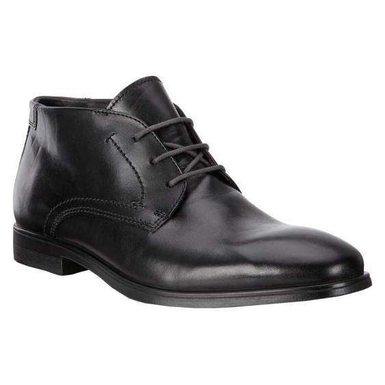 ECCO Melbourne Boot Black/ Magnet 621614-50839 (Men's)