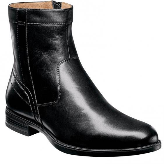 Florsheim Midtown Plain Toe Zip Boot Black 12140-001 (Men's)