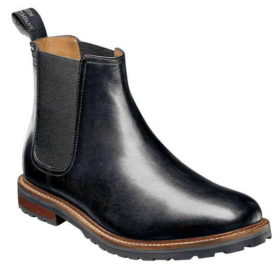 Florsheim Estabrook Plain Toe Gore Boot Black 14197-001 (Men's)