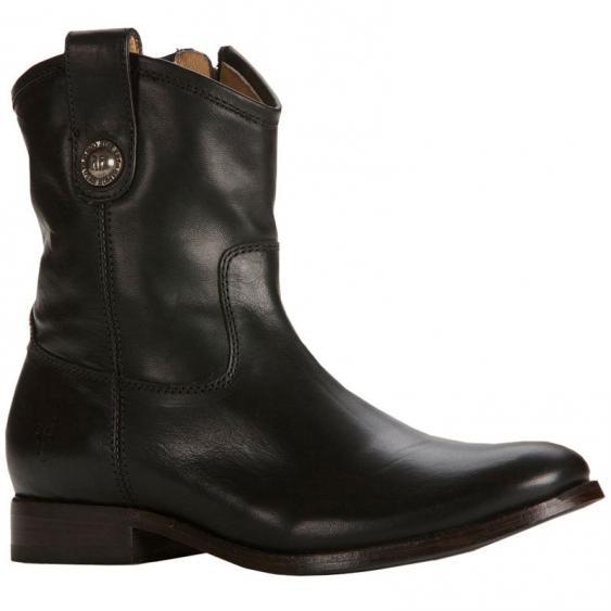Frye Melissa Button Short Washed Antique Black 77908-BLK (Women's)