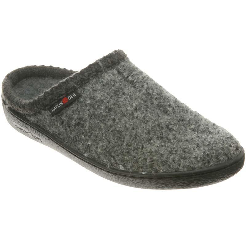 2f97f2a63e76 Haflinger AT Speckle Classic Hardsole Wool Slipper Grey (Unisex)
