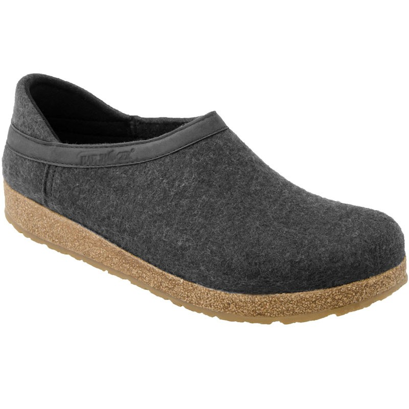 1362f7f67a925 Haflinger GZH44 Grizzly Closed Heel Clog Charcoal (Unisex)