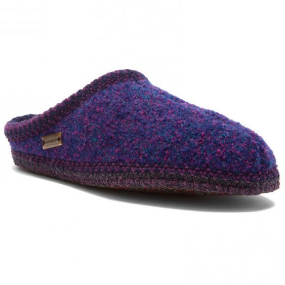 Haflinger AS13 Classic Woolfelt Slipper Purple (Women's)