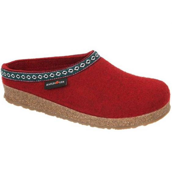 Haflinger GZ42 Classic Wool Grizzly Clog Chili 711001-42 (Women's)
