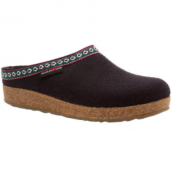 Haflinger GZ15 Classic Wool Grizzly Clog Black (Unisex)