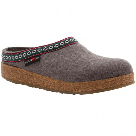 Haflinger GZ14 Classic Wool Grizzly Clog Grey (Unisex)