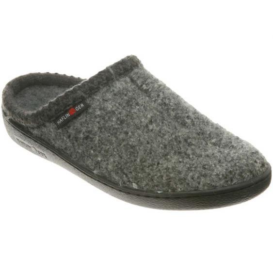 Haflinger AT64 Classic Hardsole Wool Slipper Grey (Unisex)