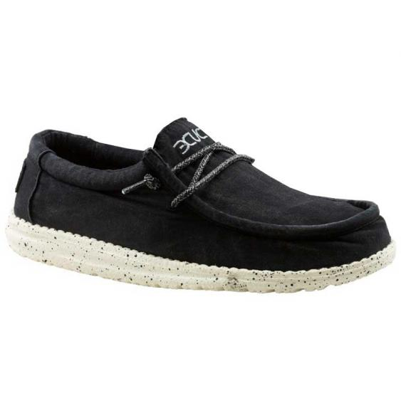 Hey Dude Wally Washed Black 111524900 (Men's)