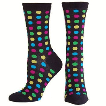 Hot Sox Fun Dot Black HO000095