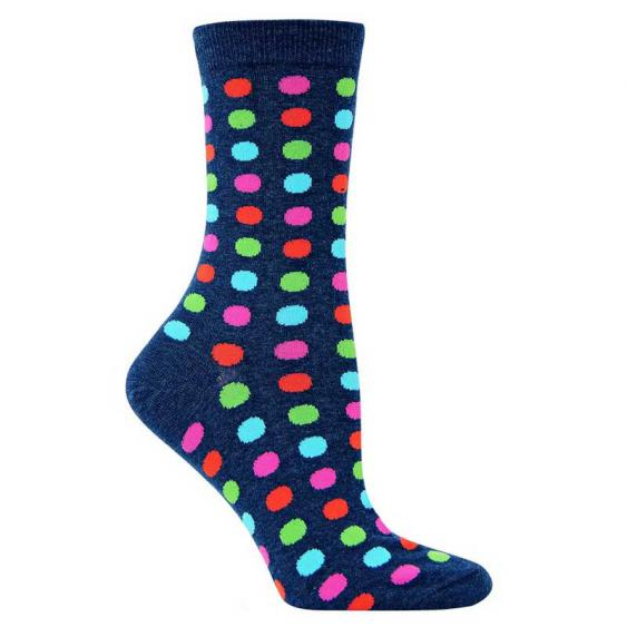Hot Sox Fun Dot Denim HO000095