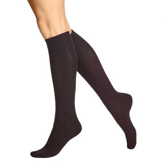 Hue Cable Knee Sock Black U14674-001 (Women's)