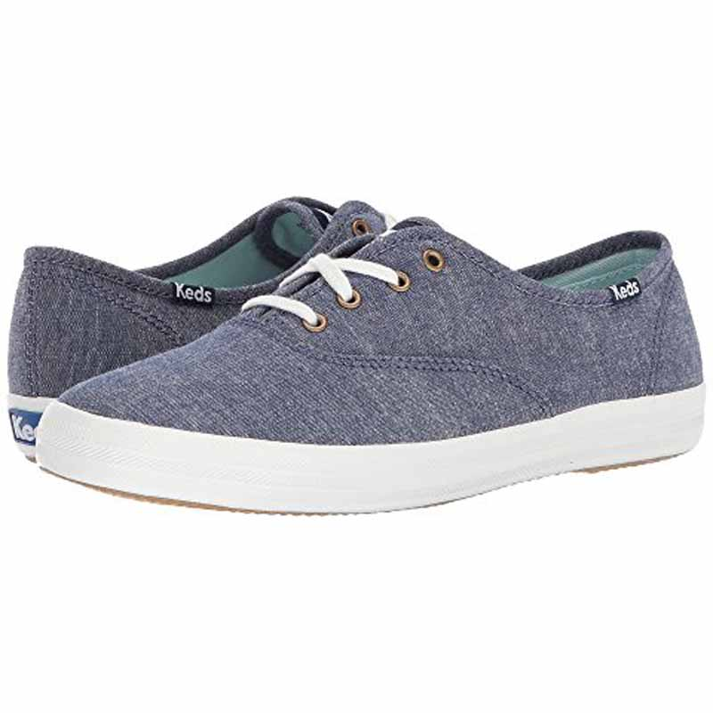 879fd1aeb9dad Keds Champion Solid Chambray Navy WF57965 (Women s)