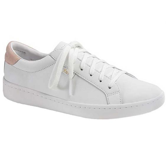 Keds Ace Leather White/ Rose WH57103 (Women's)