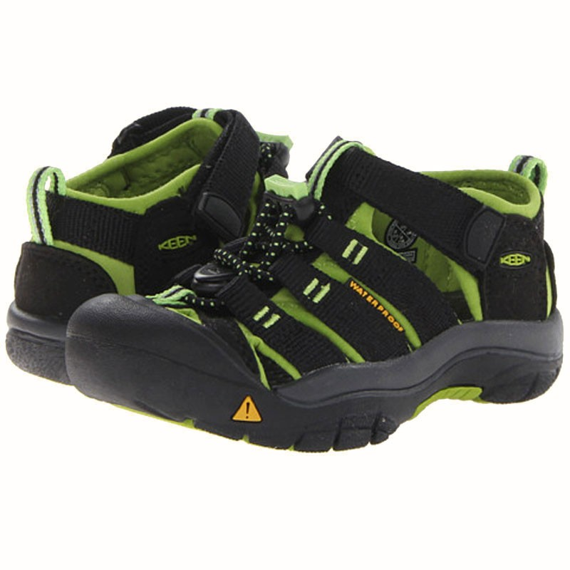 260be3adcfea Keen Newport H2 Black   Lime Green 1009942 (Toddler). Loading zoom