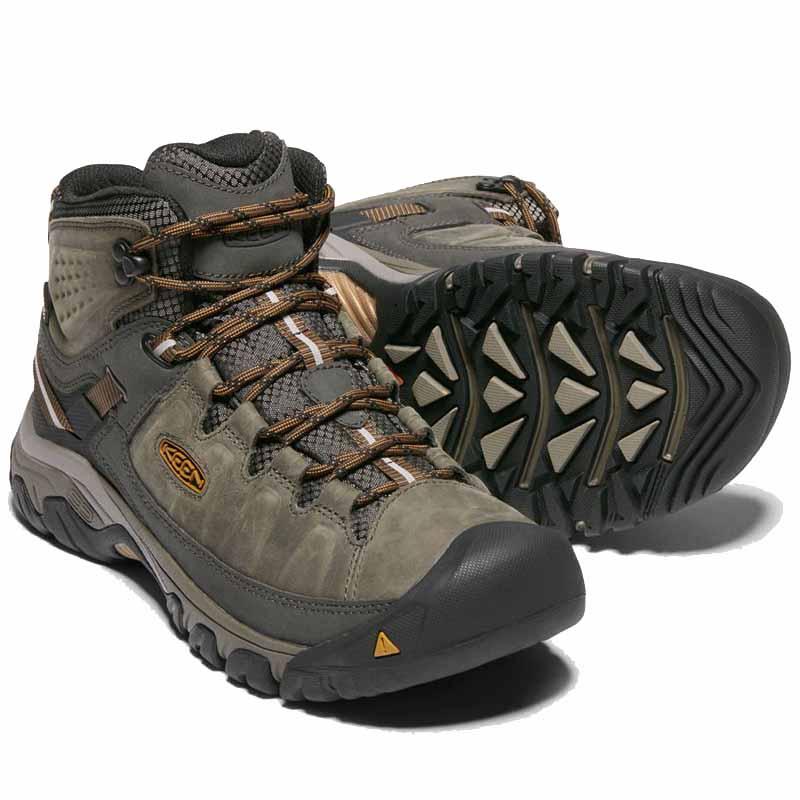 49c934ea96d Keen Targhee III Mid Leather WP Black Olive 1017787 (Men s). Loading zoom