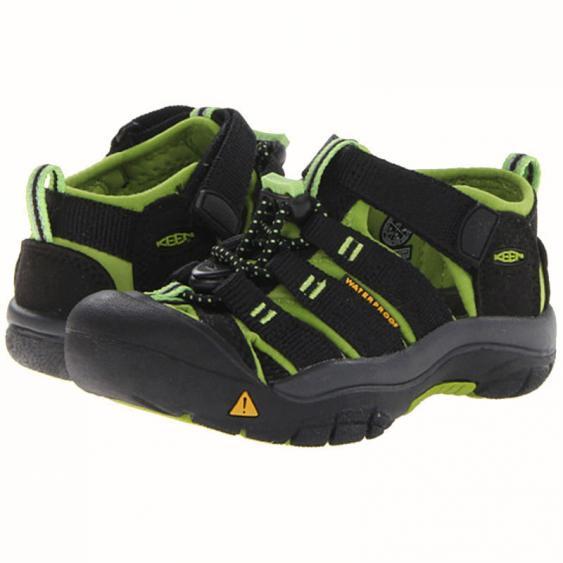 Keen Newport H2 Black / Lime Green 1009942 (Toddler)