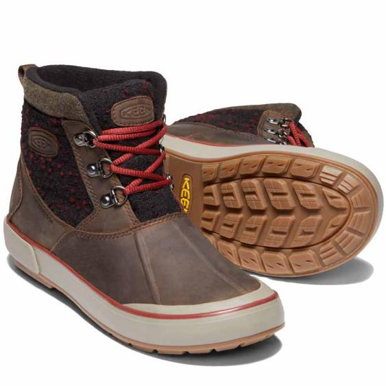 Keen Elsa II Ankle Wool WP Cascade Brown / Fired Brick 1019557 (Women's)