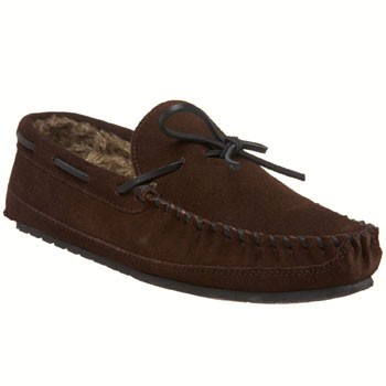 Minnetonka Casey Slipper Chocolate Suede 4155 (Men's)