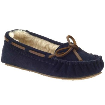 Minnetonka Cally Dark Navy Suede 4014 (Women's)