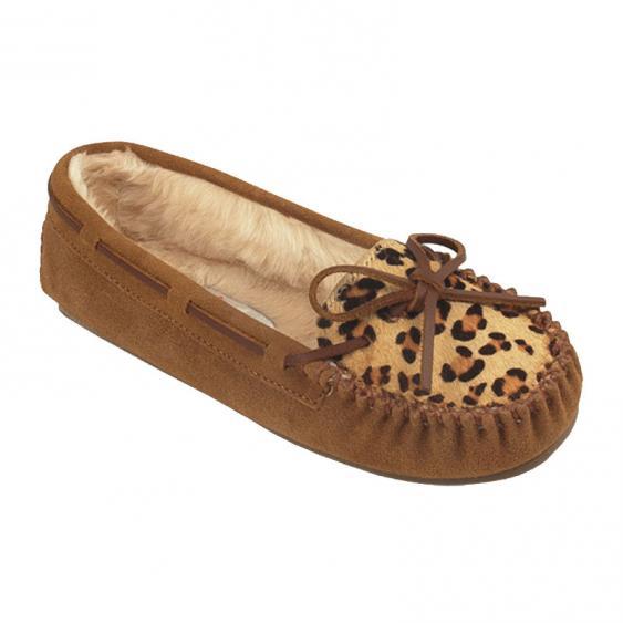 Minnetonka Leopard Cally Cinnamon Suede 40161 (Women's)
