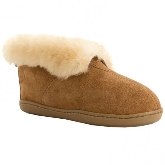 Minnetonka Sheepskin Suede Ankle Boot 3351 (Women's)
