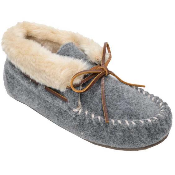 Minnetonka Fleece Chrissy Light Grey 44815 (Women's)