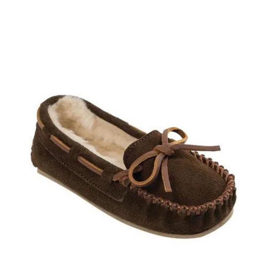 Minnetonka Cassie Slipper Chocolate Suede 4812 (Youth)