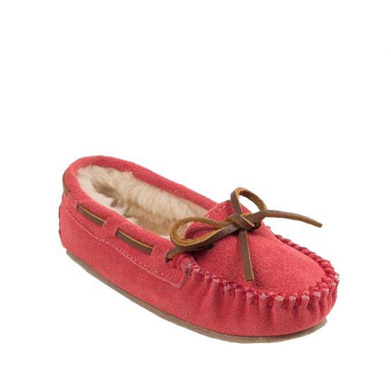 Minnetonka Cassie Slipper Hot Pink Suede 4815 (Youth)