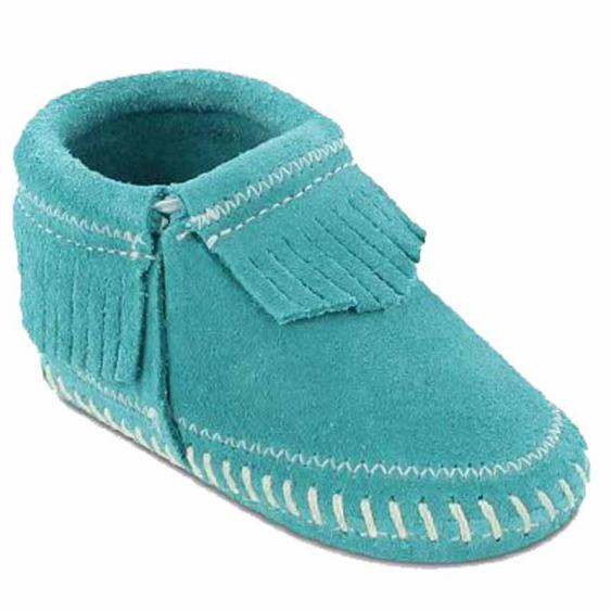Minnetonka Riley Bootie Turquoise 1166T (Infant)