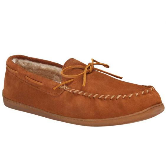 Minnetonka 3902 Pile Lined Hardsole Brown Suede (Men's)
