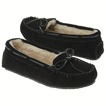 Minnetonka Cally Black Suede 4010 (Women's)