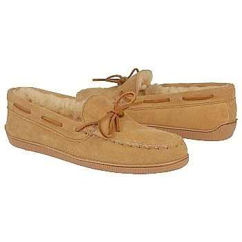 Minnetonka 3901 Pile Lined Hardsole Tan Suede (Men's)