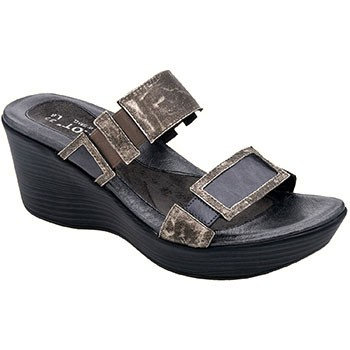 Naot Treasure Metal/Gray Patent Leather 38014-N25 (Women's)