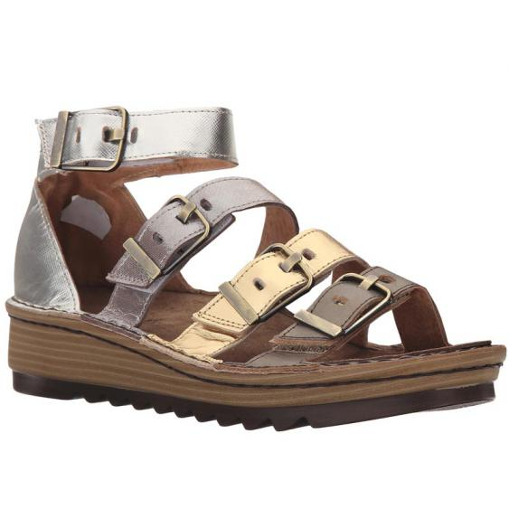 Naot Begonia Pewter/ Gold/ Silver Leather 17102-NEM (Women's)