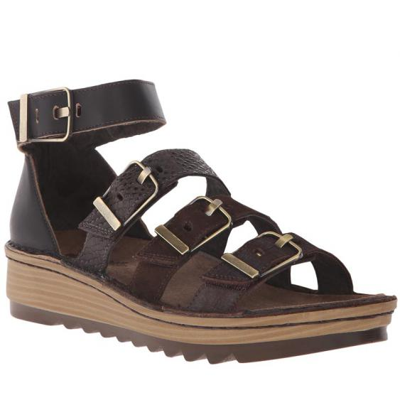 Naot Begonia Mine Brown/ Hash Suede 17102-S8W (Women's)