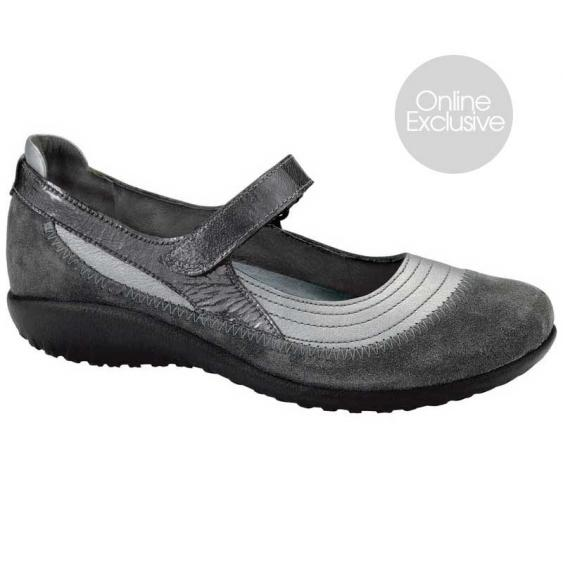 Naot Kirei Sterling/ Gray Suede/ Gray Patent 11042-NR3 (Women's)