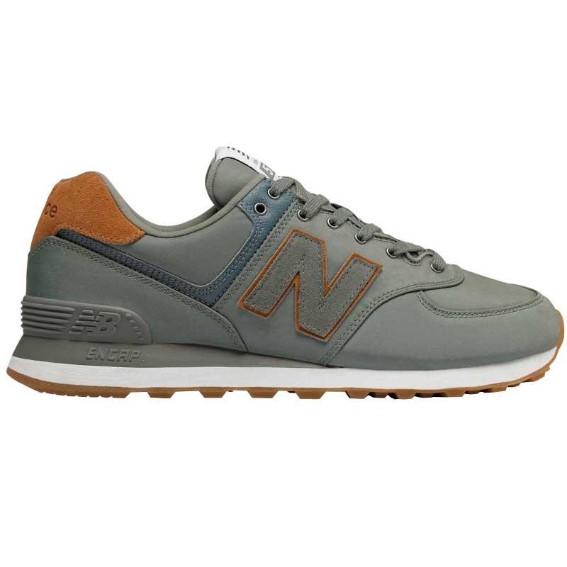 New Balance 574 Running Shoes for Boys, OrangeBurgundy