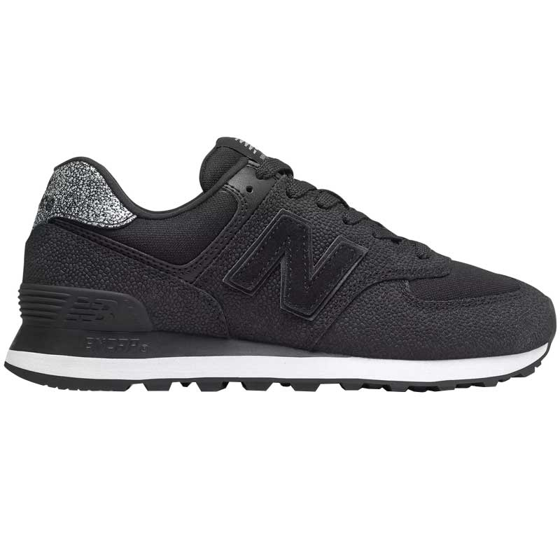 new style 1f28d 49443 New Balance 574 Pebbled Street Black/ White WL574UJC (Women's)
