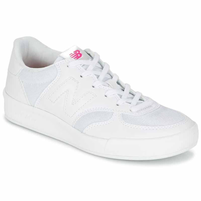 new balance white and pink