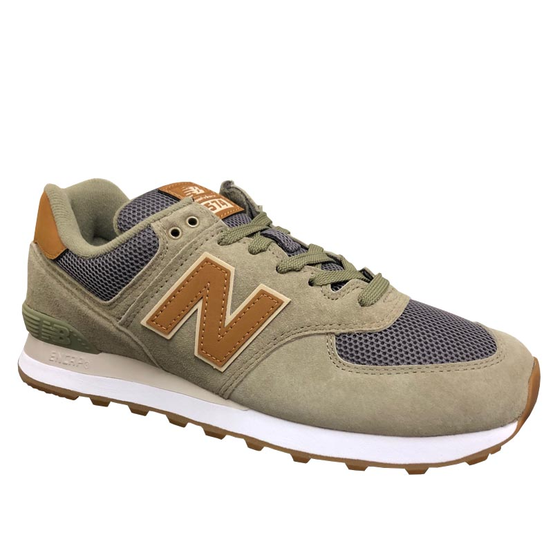 new product 0cd6d e55d1 New Balance 574 Olive/ Grey ML574JOC (Men's)