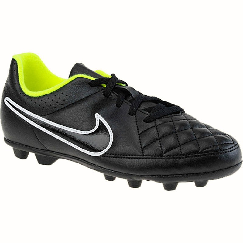 d2a7dd55eb12 Nike Tiempo Rio II FG Black / Volt 631286-017 (Youth). Loading zoom