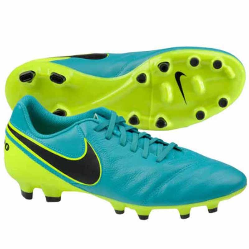 buy online da0b2 0c9d5 Nike Tiempo Genio Leather II Clear Jade / Volt 819213-307 (Men's)