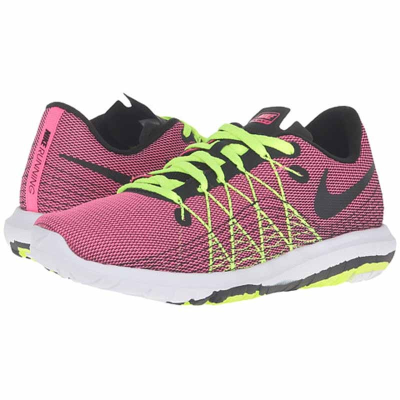 087fe69a7ea1 Nike Flex Fury 2 Hyper Pink   Volt 820287-601 (Youth). Loading zoom