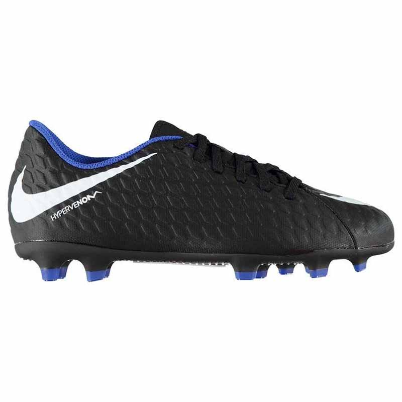 the best attitude 32d4d b2e14 Nike Hypervenom Phade III FG Black / Royal 852580-002 (Youth)