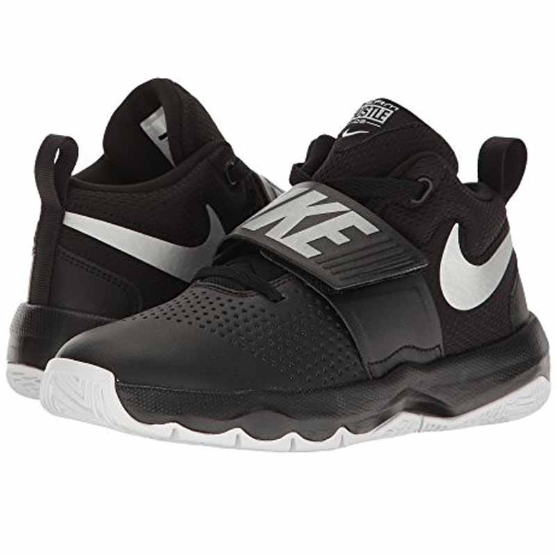 20095108fa71 Nike Team Hustle D 8 Black   Silver 881941-001 (Youth). Loading zoom