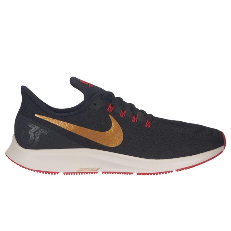 302ad0c4839 Nike Air Zoom Pegasus 35 Black  Gold  Red 942851-018 (Men s)